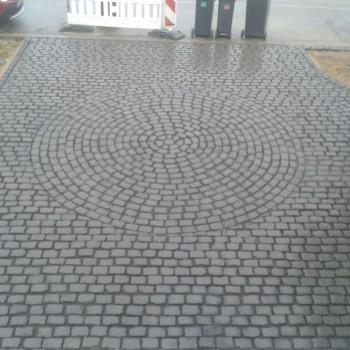 Einfahrt, Natursteine, Muster