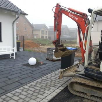 Terrasse - Baggerarbeiten