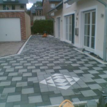 Terrasse - Pflastersteine - Muster